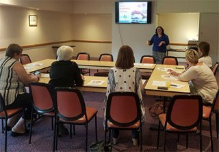 Tiffany Gilleland presenting a recent Go Digital workshop