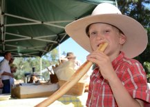 Seven-year-old Caroona local, Patrick Blomfield sunk his teeth into Tamworth's Pani Dolci artisan bakery products.