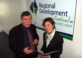 RDANI Deputy Chair Herman Beyersdorf and Project Officer, Kim-Trieste Hastings are pleased with the community input into the Regional Plan to date.