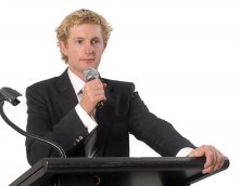 Inspirational Guest Speaker for the 2011 Northern Inland Innovation Awards, Michael Crossland.