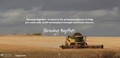 The Farming Together Initiative is creating a program to encourage cooperatives and farming groups in a bid to increase the sectors bargaining power. Image sourced from www.farmingtogether.com.au