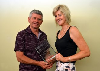 Craig and Renee Neale from 2016 RDA Northern Inland Innovation of the Year, Wholegrain Milling Company for its Certified Sustainable system and label.