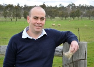 RDA Northern Inland Executive Officer Nathan Axelsson, ready to trial the Wool-Works shearing school