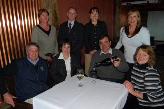 Andrew Close of Mihi Creek; Narelle Malcolm from Guyra Visitors Information Centre (VIC) and Rafters restaurant; RDANI Project Officer, Kim-Trieste Hastings; Uralla VIC's Patrick Dogan; Walcha VIC's Gemma Clarke; Merilba Estate's Shaun Cassidy; Armidale VIC's Deborah Clark; and Thunder Ridge's Susan Moore.